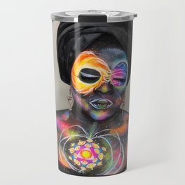 Cosmic Collision Gothess Travel Mug