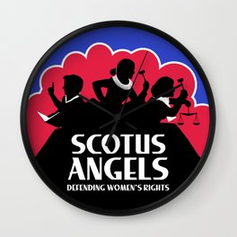 SCOTUS Angels - Tools of Law Nonviolent (Gun-Free) Edition Wall Clock