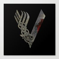 vikings Canvas Prints featuring Vikings by Arts and Herbs