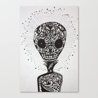day of the dead Canvas Prints featuring Day of the Dead by Mighty Truth