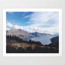 Queenstown from above Art Print
