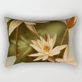 Vintage Water Lily Rectangular Pillow