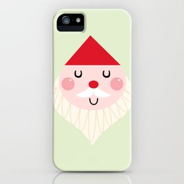 Adorable christmas Santa isolated on white iPhone Case