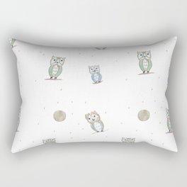 Owl Fun Pattern #1 #drawing #decor #art #society6 Rectangular Pillow