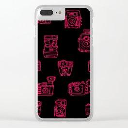 Camera: Pink - pop art illustration Clear iPhone Case