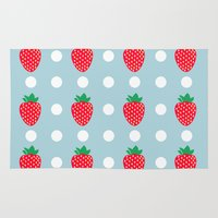 strawberry Area & Throw Rugs featuring strawberry by vitamin