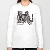 new york Long Sleeve T-shirts featuring New York New York by Bianca Green