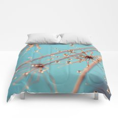 Queen Anne's Lace in Blue Comforters