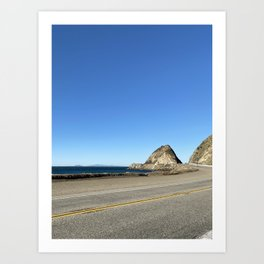 Malibu California on the Pacific Coast Highway Art Print