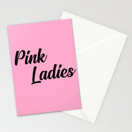 pink ladies music quote Stationery Cards