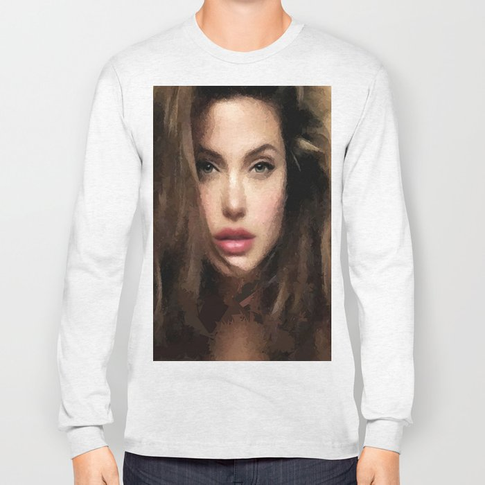 Angelina Jolie Hair Long Sleeve T-shirt