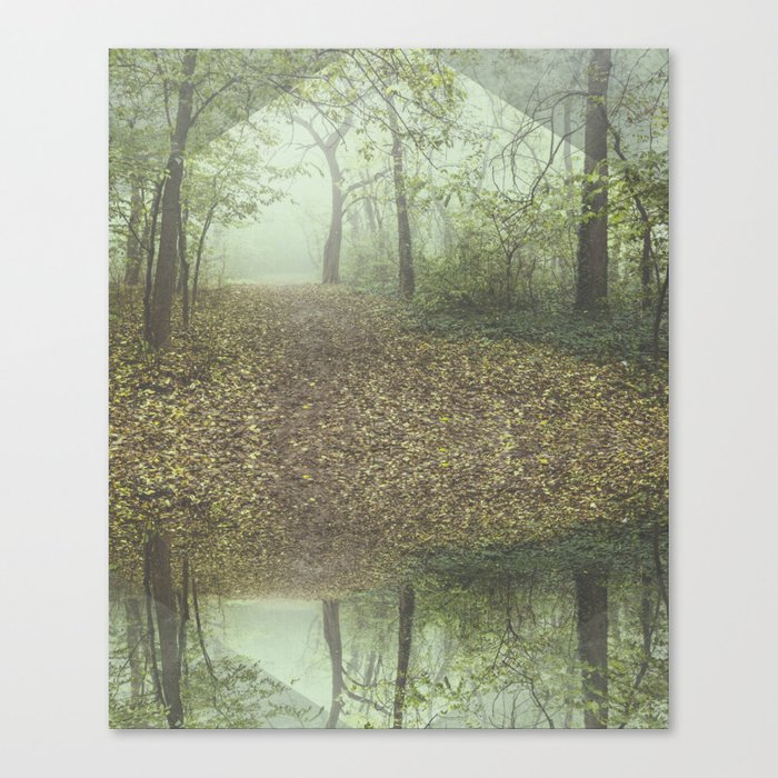 Walk in the Surreal Misty Forest Canvas Print