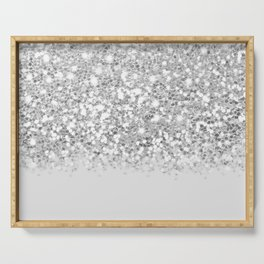 Dazzling Silver Gradient  Serving Tray