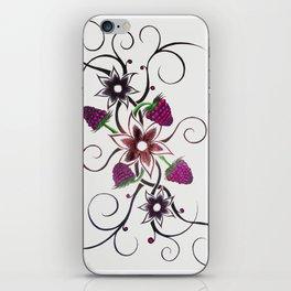 Swirly Flower Design iPhone Skin
