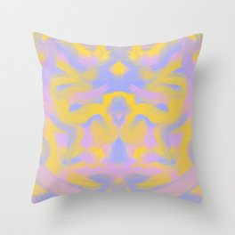 Tie dye butterfly Throw Pillow