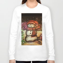 Christmas Surprise Snowman Long Sleeve T-shirt