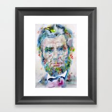 ABRAHAM LINCOLN - watercolor portrait Framed Art Print