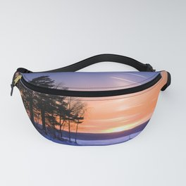 Сolumn of light and contrails Fanny Pack