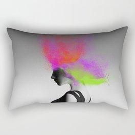 Powder Head Red Purple Green Rectangular Pillow