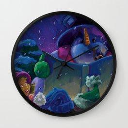 Wintertime Reading Wall Clock