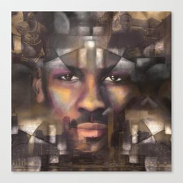 The King of the court Canvas Print