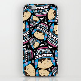 Cute Bobble Hat Boy iPhone Skin