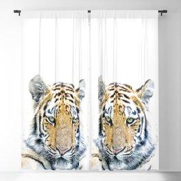 Tiger portrait Blackout Curtain