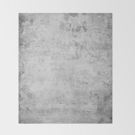 concrete wall vintage grey background,  wall texture * Throw Blanket