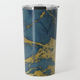 Blue Azul Marble Travel Mug