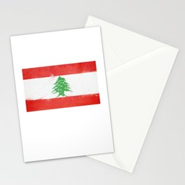 Lebanon Flag design | Lebanese design Stationery Cards
