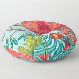 The Red Chameleon  Floor Pillow