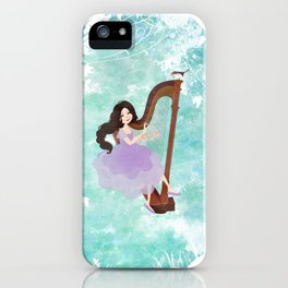 Harp girl 6: Music from the forest iPhone Case