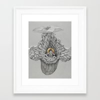 shiva Framed Art Prints featuring Shiva by Angie Crabtree