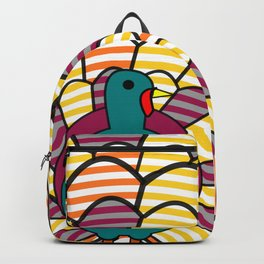 Colorful turkey Backpack