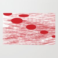 planets Area & Throw Rugs featuring red planets by Loosso