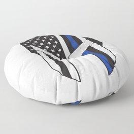 Gladiator Helmet American Flag Thin Blue Line Floor Pillow