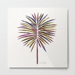 Tropical Fan Palm – Vintage Palette Metal Print