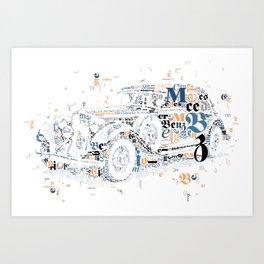 Oldtimer MB Daimler Benz 320 Cabrio Art Print