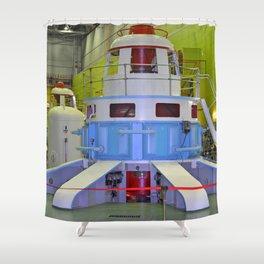 machine room HPP Shower Curtain