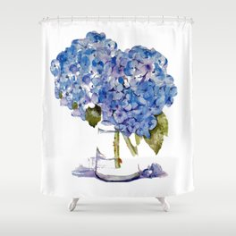 Cape Cod Hydrangea Large Canvas Shower Curtain
