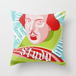 Shakespeare Says Study Throw Pillow