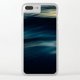 The Uniqueness of Waves IV Clear iPhone Case