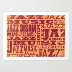 Jazz Poster Art Print