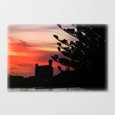 Sunrise at Port of Portland Canvas Print