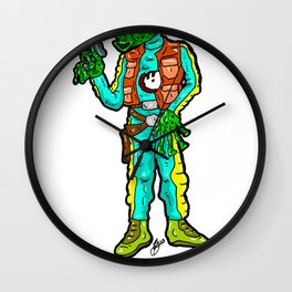 Worst Bounty Hunter EVER!  And, he barely got a shot off!!!  Greedo from Star Wars Wall Clock