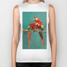 Scarlet Macaw Biker Tank