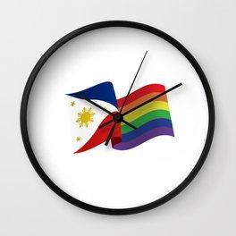 Philippine Rainbow Pride Flag Unofficial Wall Clock