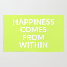 happiness comes from within Rug