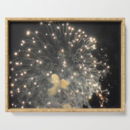 Marina Fireworks 2018 view 4 Serving Tray
