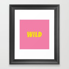 Wild – Pink and Yellow Framed Art Print